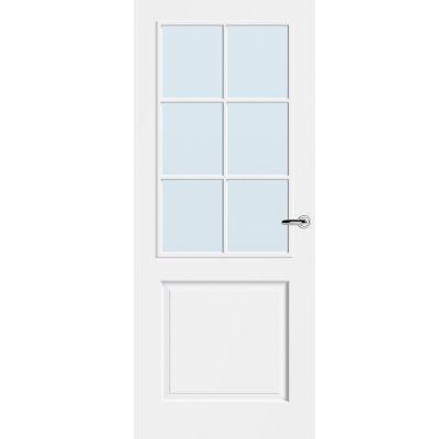 Calgary 6-ruits blank glas