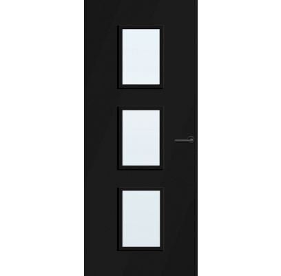 Caracas zwart blank glas